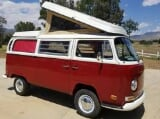 Photo 1971 vw bus westfalia camper red