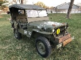 Photo 1945 Jeep Willys MB WWII Wartime Army Street Legal