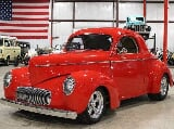 Photo 1941 Willys Coupe Red Coupe 383 V8 Automatic