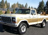 Photo 1978 ford f-250 ranger custom 100% rust free